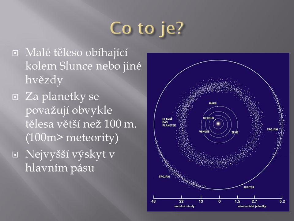 Co to je Malé těleso obíhající kolem Slunce nebo jiné hvězdy