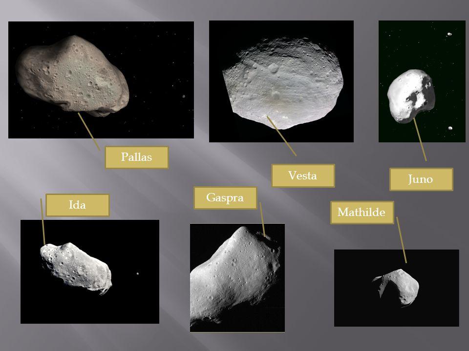 Pallas Vesta Juno Gaspra Ida Mathilde