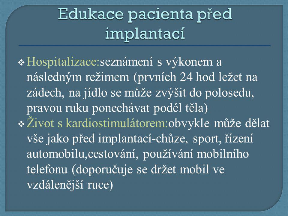 Edukace pacienta před implantací