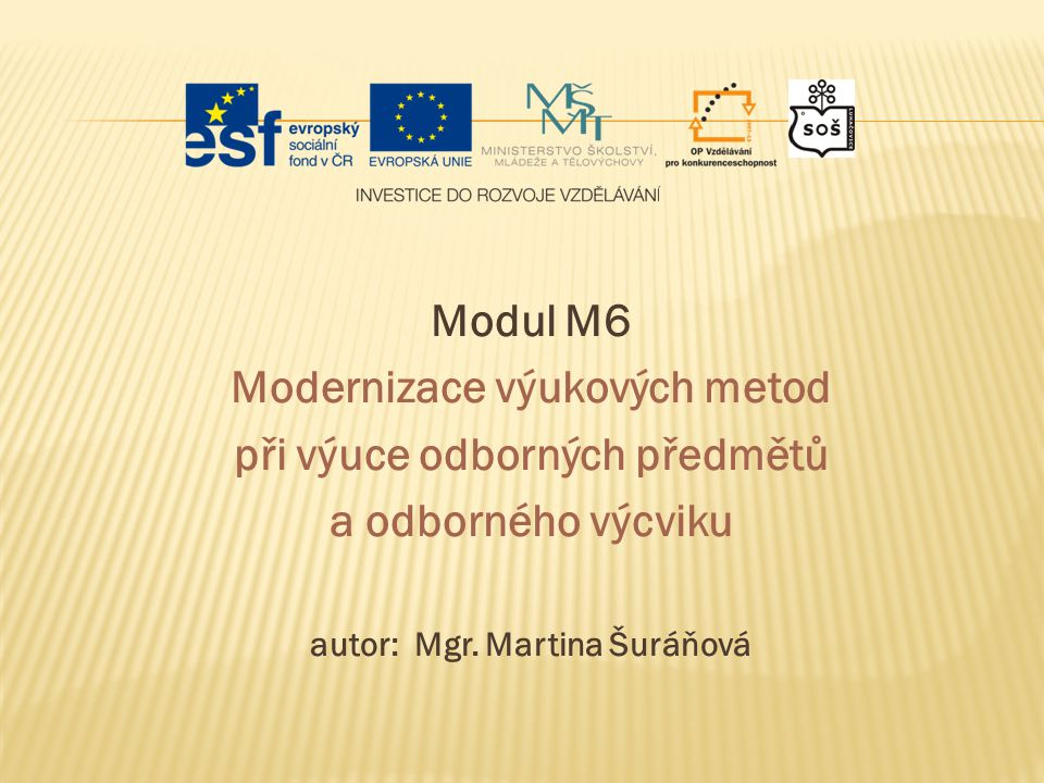 Modernizace výukových metod při výuce odborných předmětů