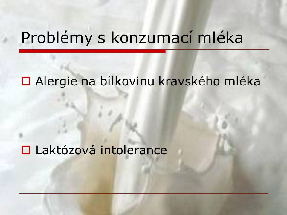 Problémy s konzumací mléka