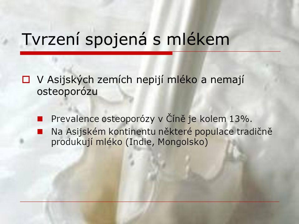 Tvrzení spojená s mlékem