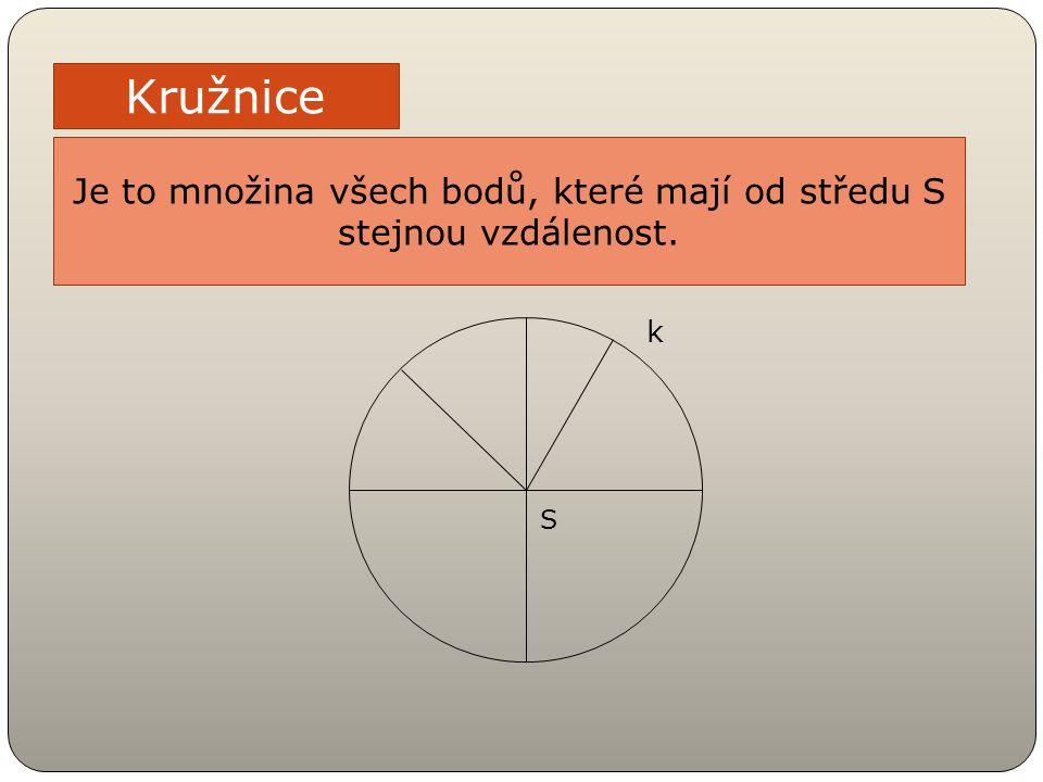 Je to množina všech bodů, které mají od středu S stejnou vzdálenost.