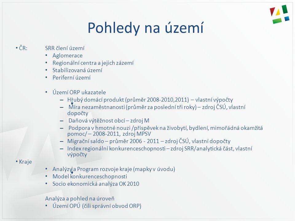 Pohledy na území ČR: SRR člení území Aglomerace
