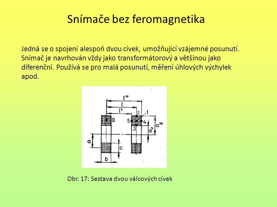 Snímače bez feromagnetika