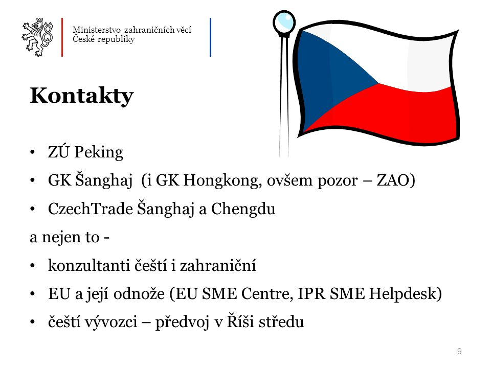 Kontakty ZÚ Peking GK Šanghaj (i GK Hongkong, ovšem pozor – ZAO)