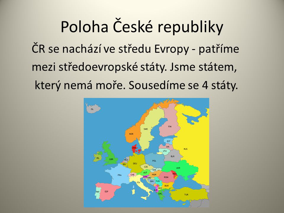 Poloha České republiky