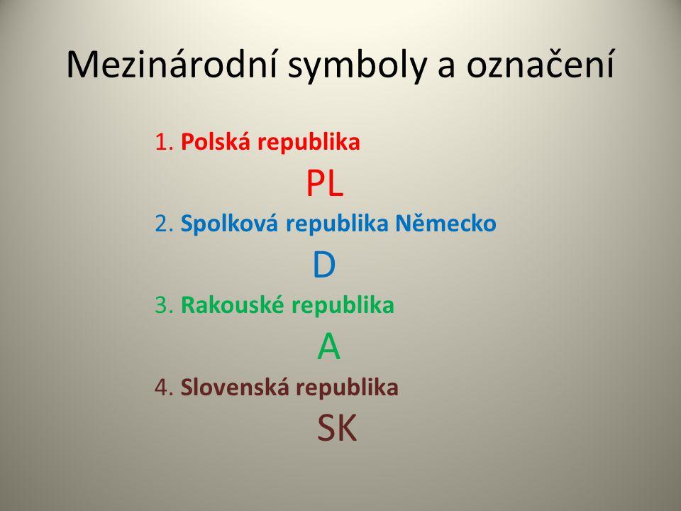 Mezinárodní symboly a označení
