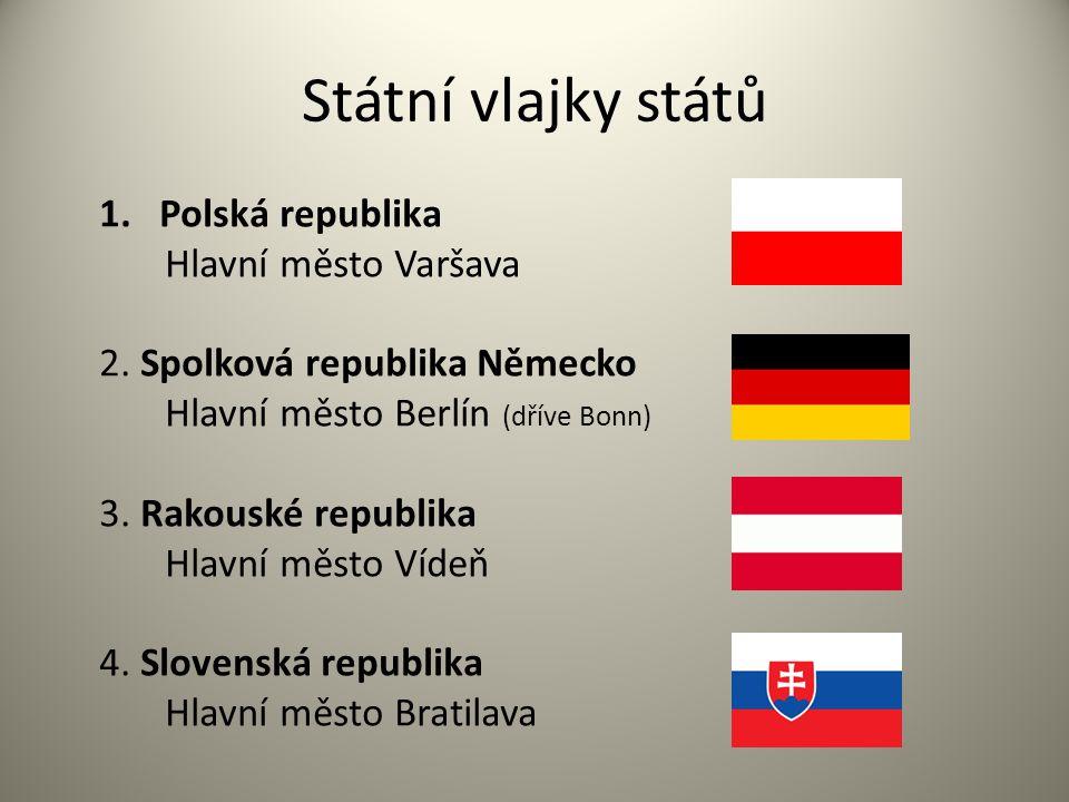 Státní vlajky států Polská republika Hlavní město Varšava
