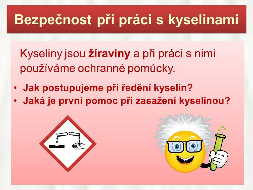 Bezpečnost při práci s kyselinami