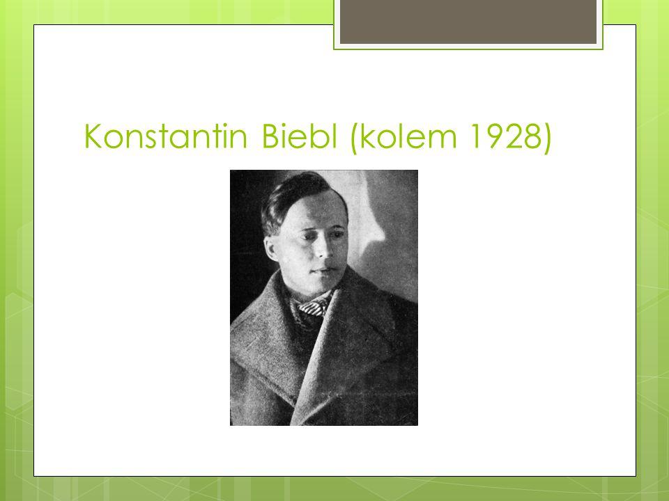 Konstantin Biebl (kolem 1928)