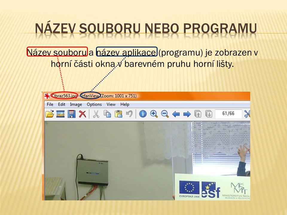 název souboru nebo programu