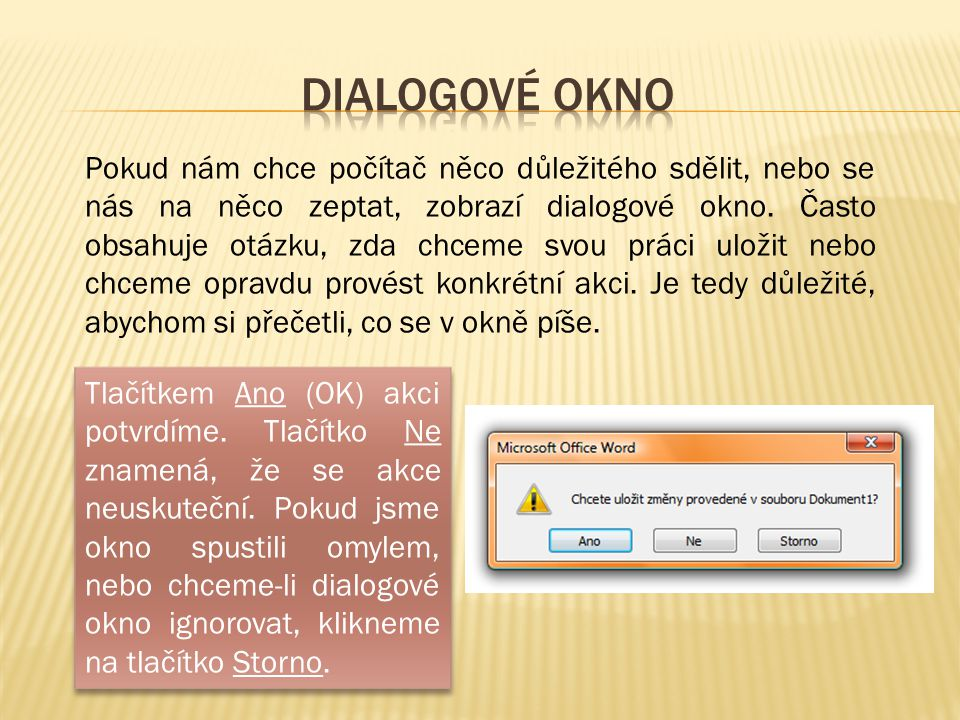 dialogové okno