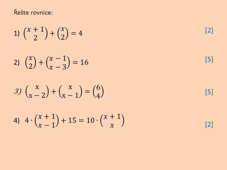 1) 𝑥+1 2 + 𝑥 2 =4 2) 𝑥 2 + 𝑥−1 𝑥−3 =16 x x−2 + x x−1 = 6 4