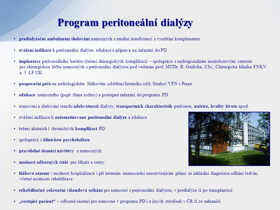 Program peritoneální dialýzy