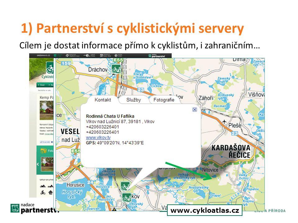 1) Partnerství s cyklistickými servery