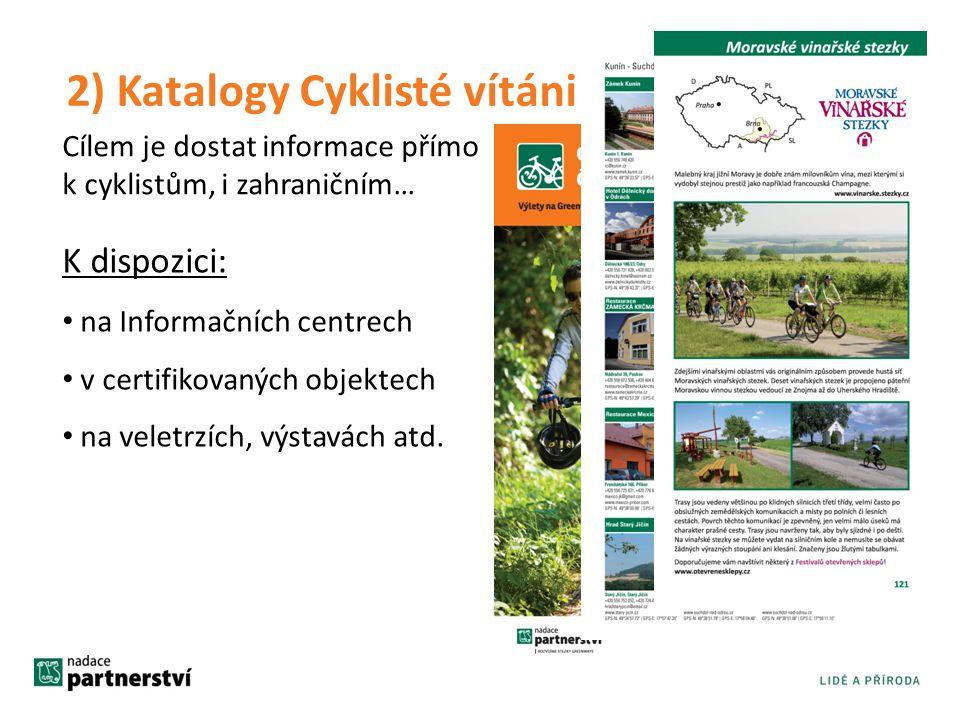 2) Katalogy Cyklisté vítáni