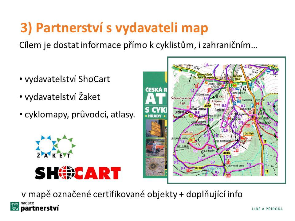 3) Partnerství s vydavateli map