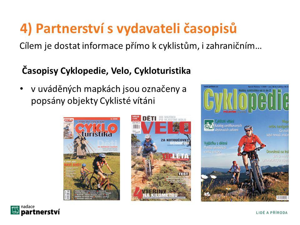4) Partnerství s vydavateli časopisů