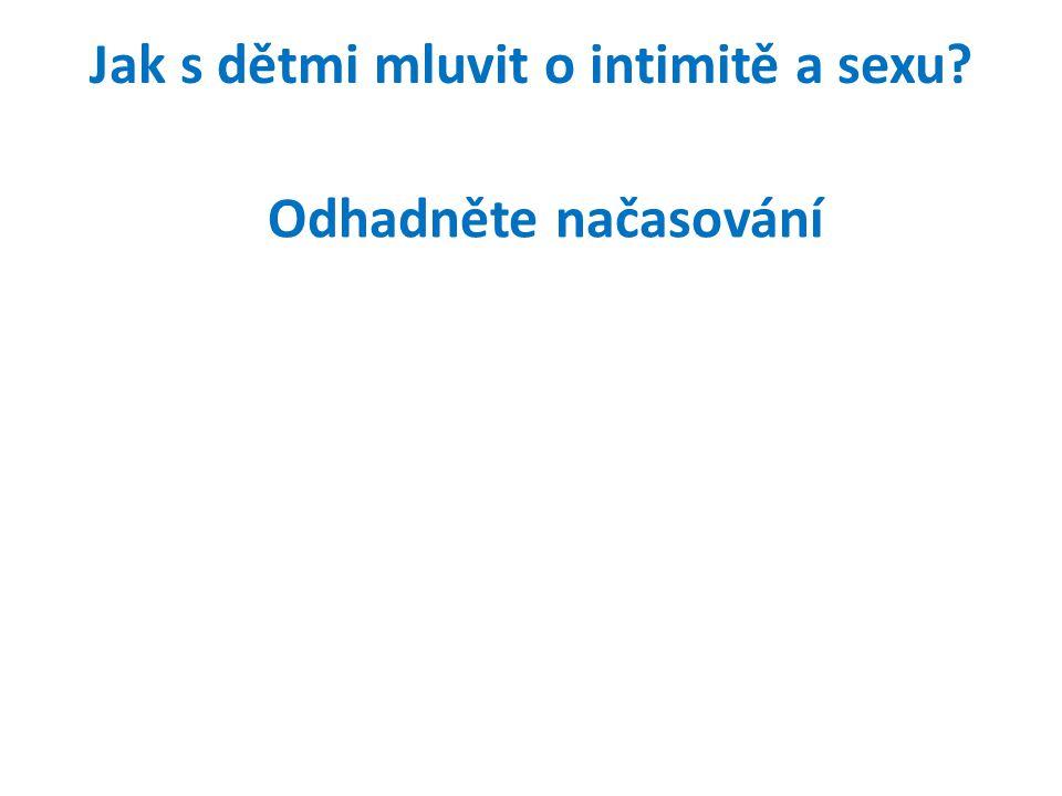 Jak s dětmi mluvit o intimitě a sexu