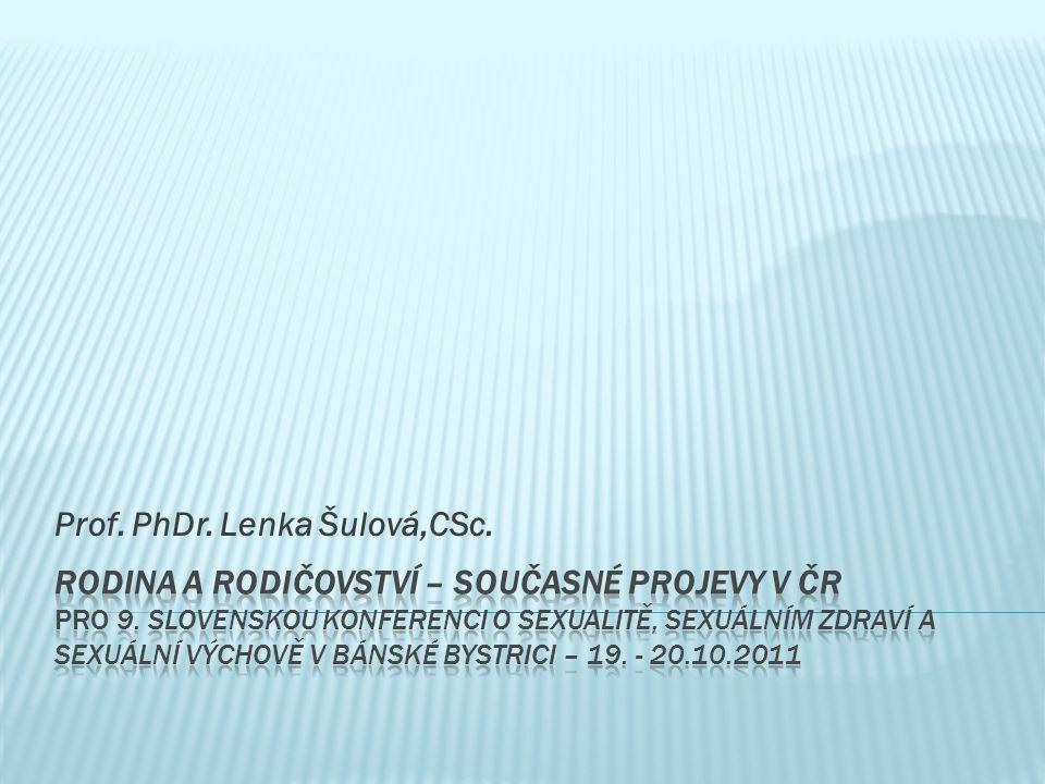 Prof. PhDr. Lenka Šulová,CSc.