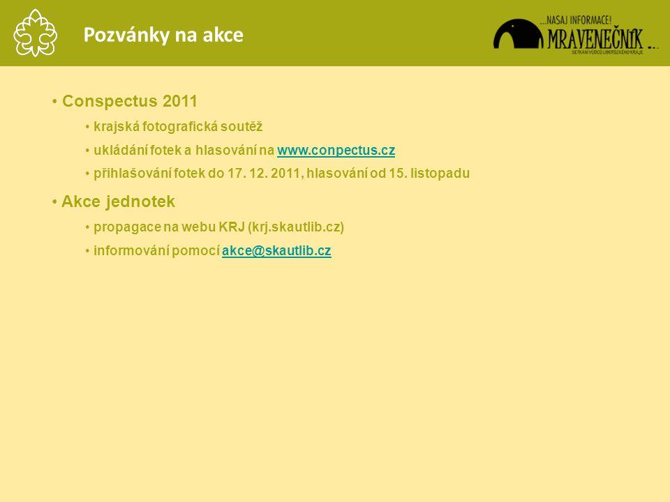 Pozvánky na akce Conspectus 2011 Akce jednotek