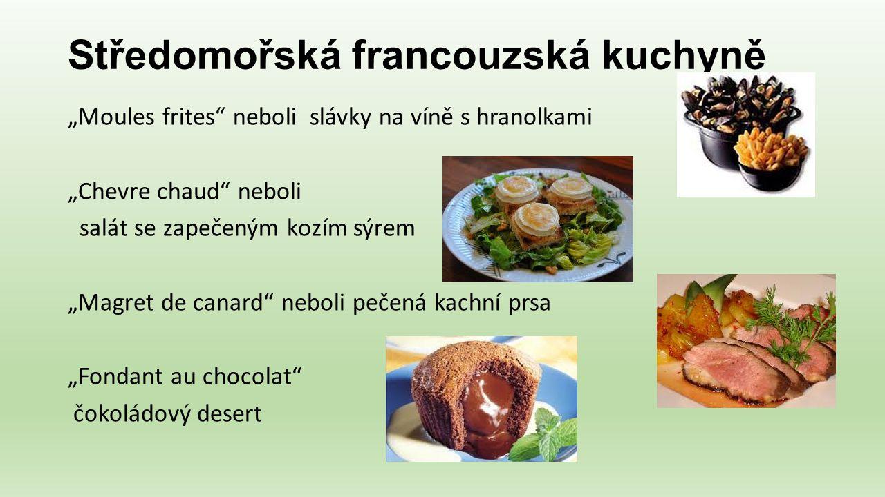 Středomořská francouzská kuchyně