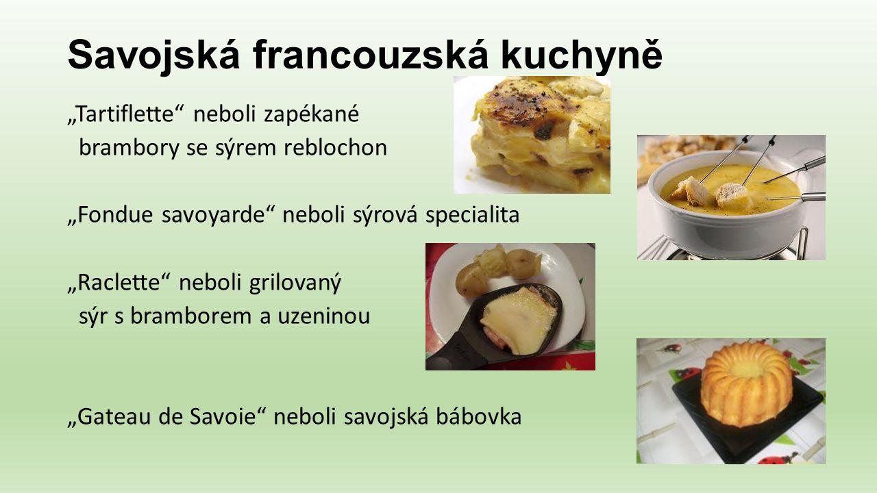 Savojská francouzská kuchyně
