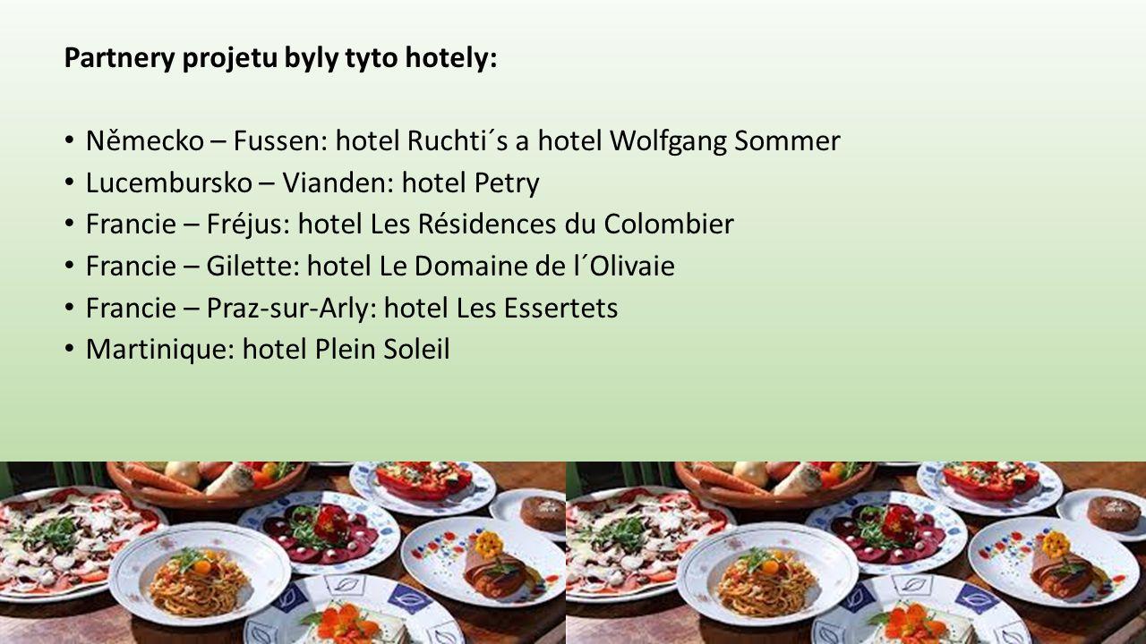 Partnery projetu byly tyto hotely:
