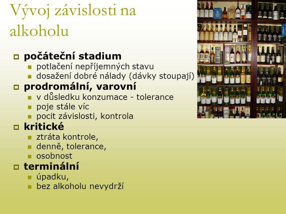 Vývoj závislosti na alkoholu