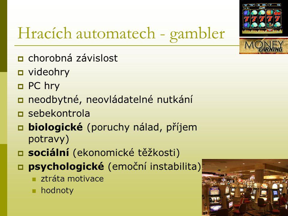Hracích automatech - gambler