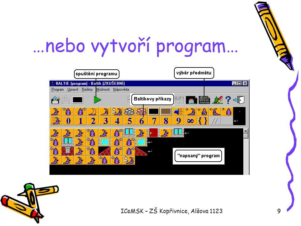 …nebo vytvoří program…