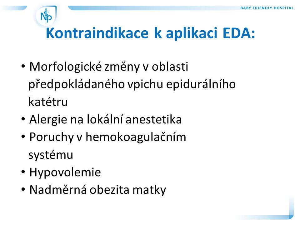 Kontraindikace k aplikaci EDA: