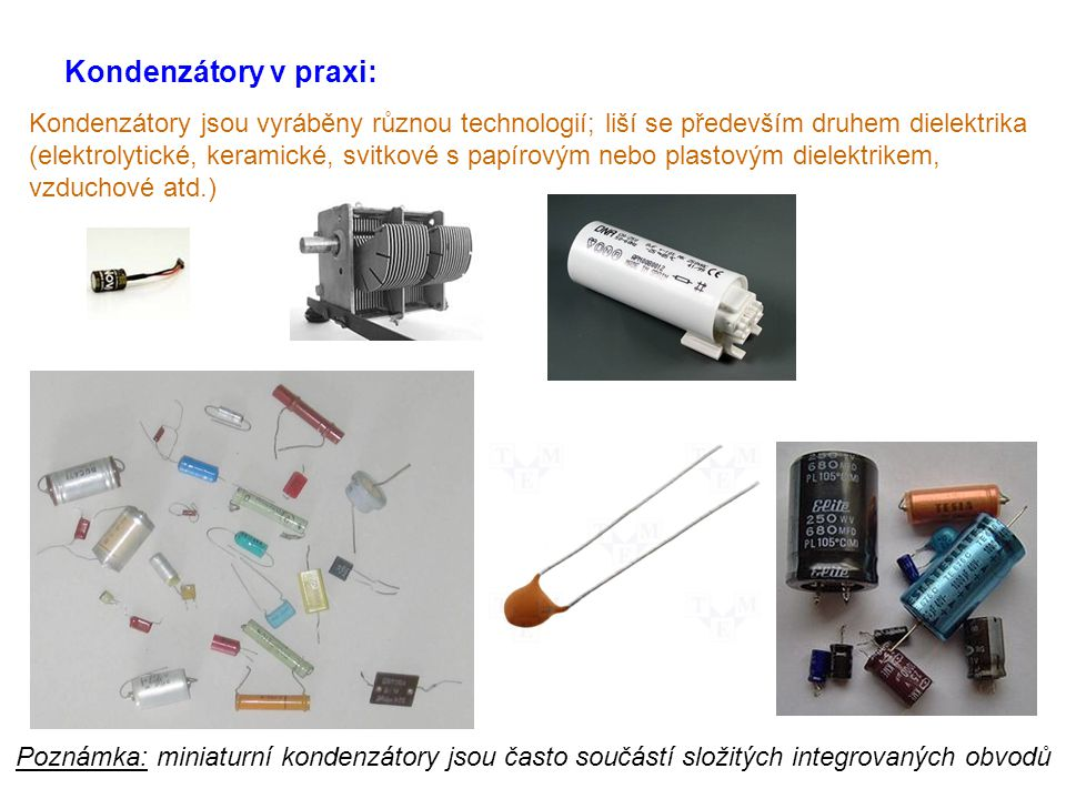 Kondenzátory v praxi: