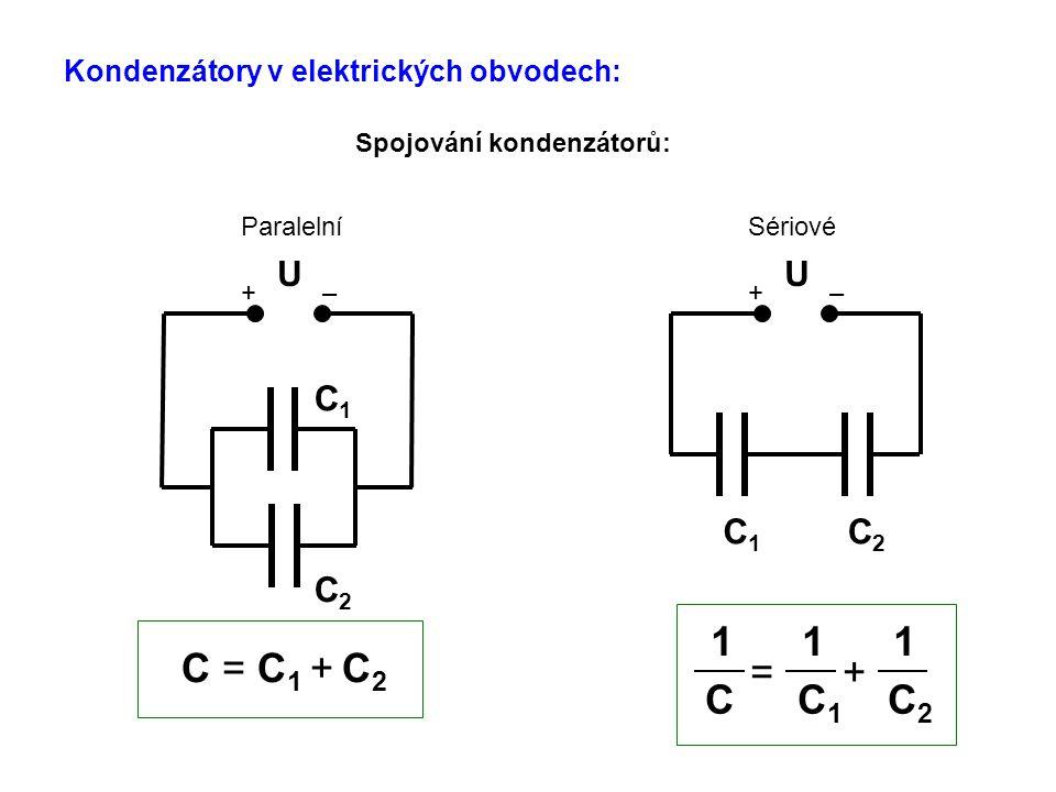 Kondenzátory v elektrických obvodech: