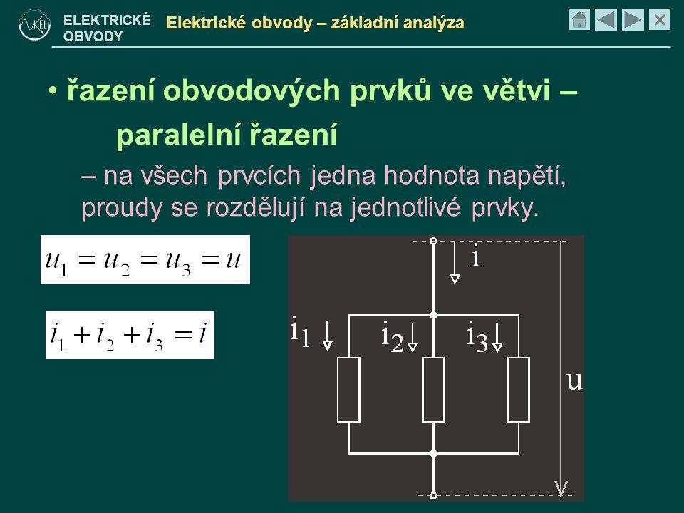 Elektrické obvody – základní analýza