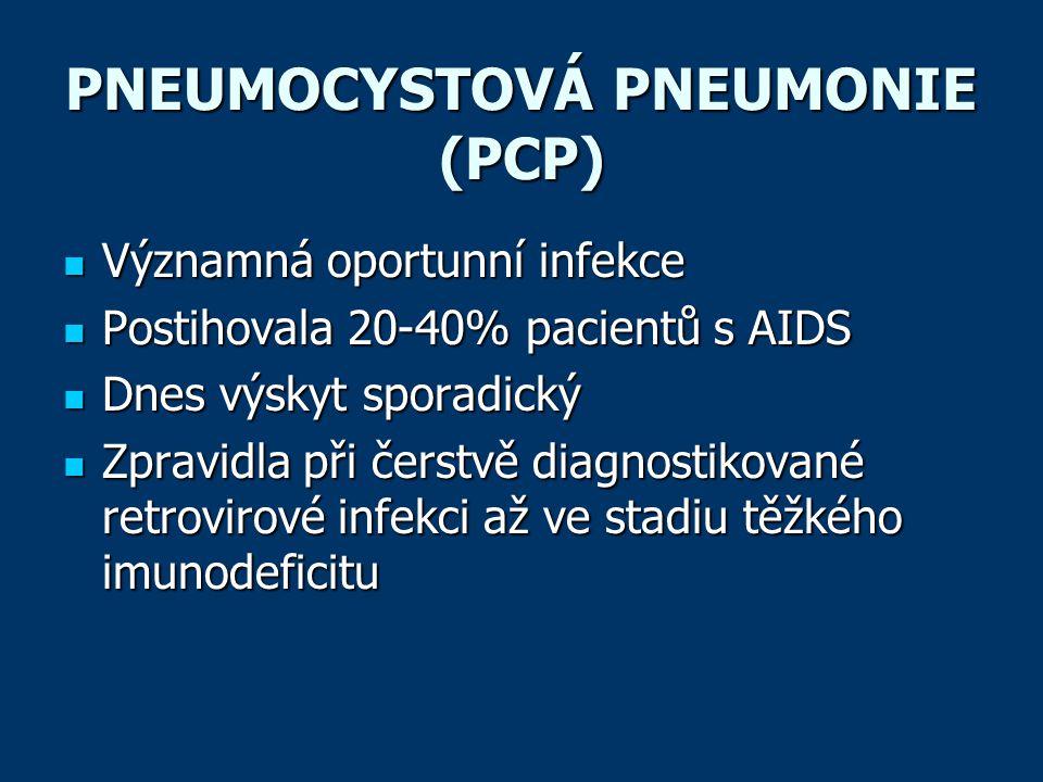PNEUMOCYSTOVÁ PNEUMONIE (PCP)