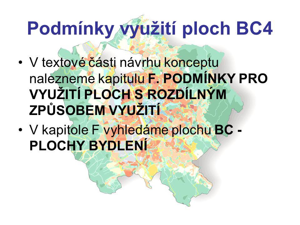 Podmínky využití ploch BC4