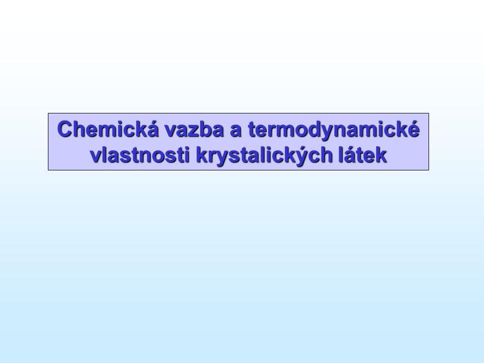 Chemická vazba a termodynamické vlastnosti krystalických látek