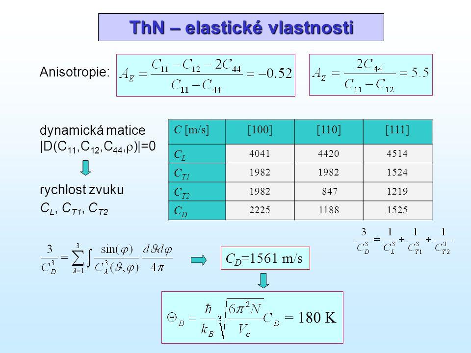 ThN – elastické vlastnosti