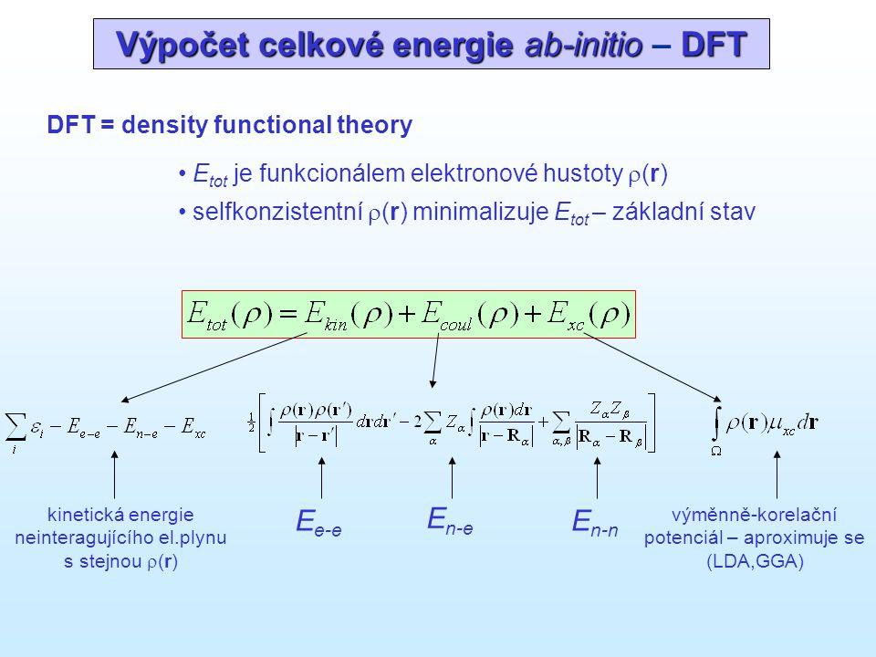 Výpočet celkové energie ab-initio – DFT