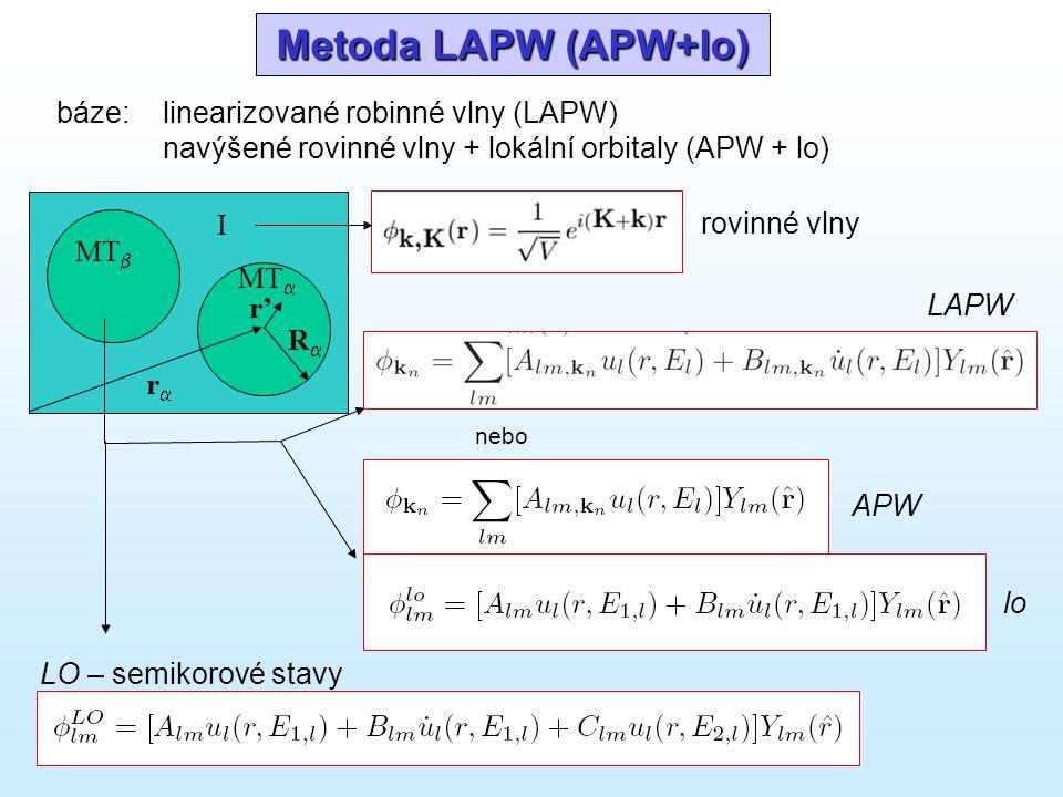 Metoda LAPW (APW+lo) báze: linearizované robinné vlny (LAPW)