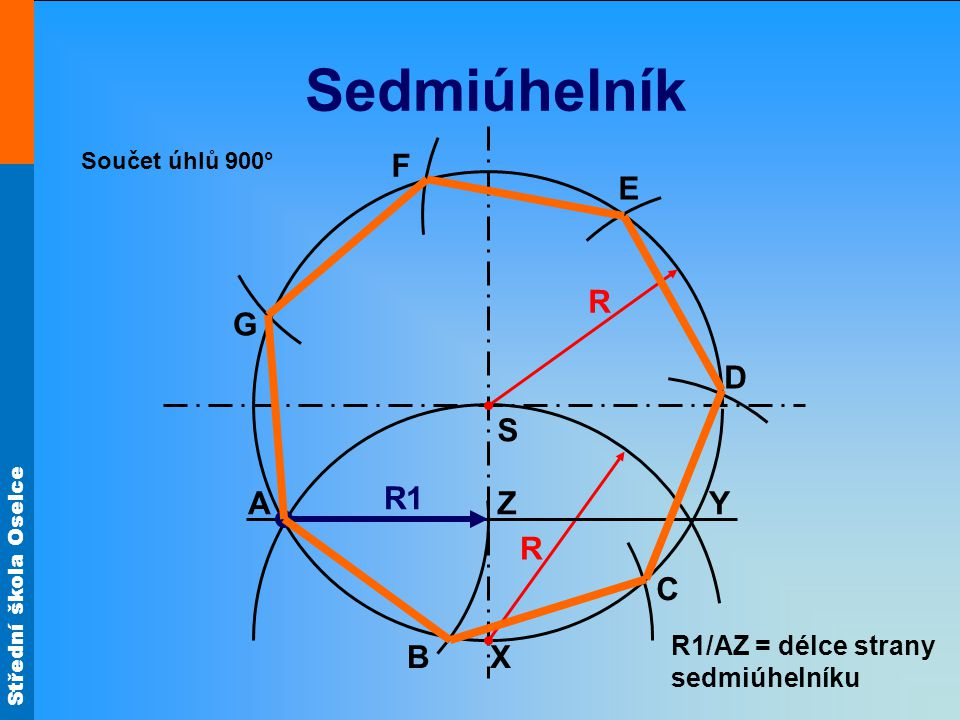 Sedmiúhelník F E R G D S A R1 Z Y R C B X