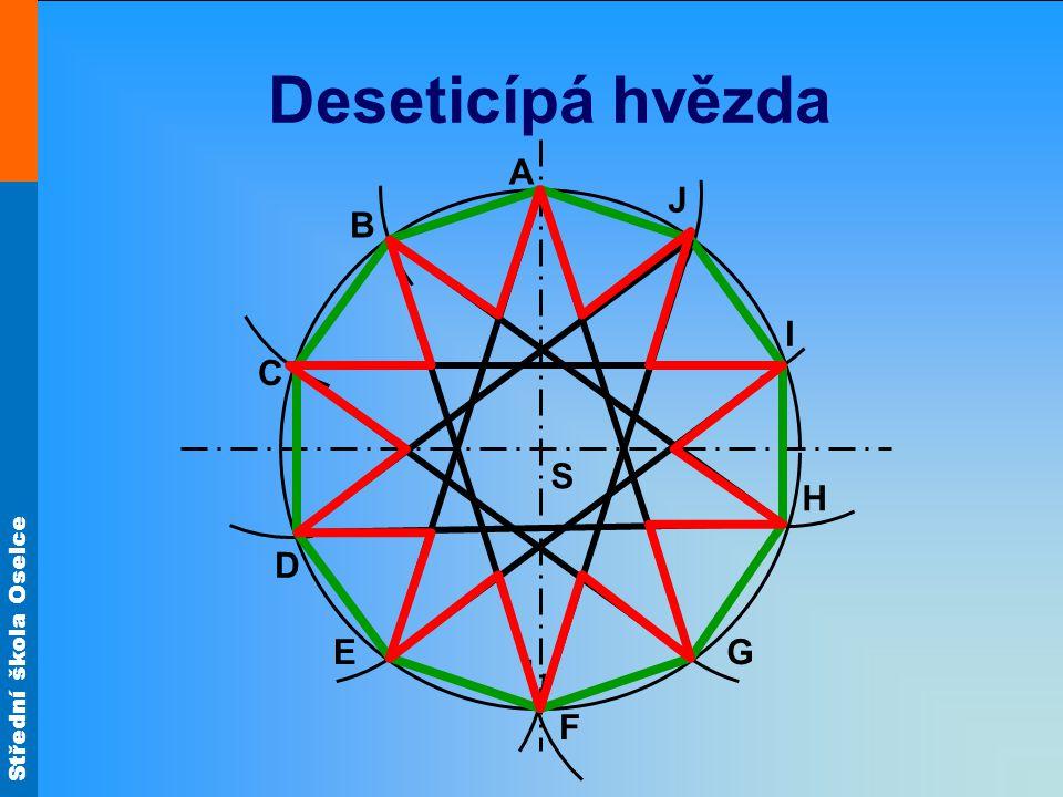 Deseticípá hvězda A J B I C S H D E G F