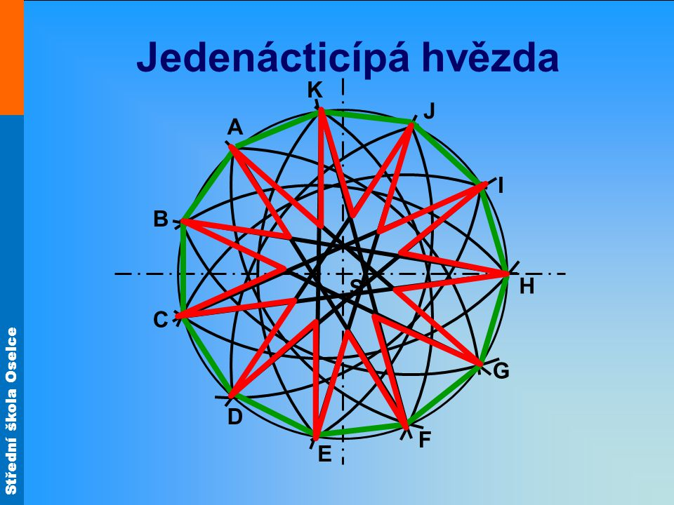 Jedenácticípá hvězda K J A I B S H C G D F E