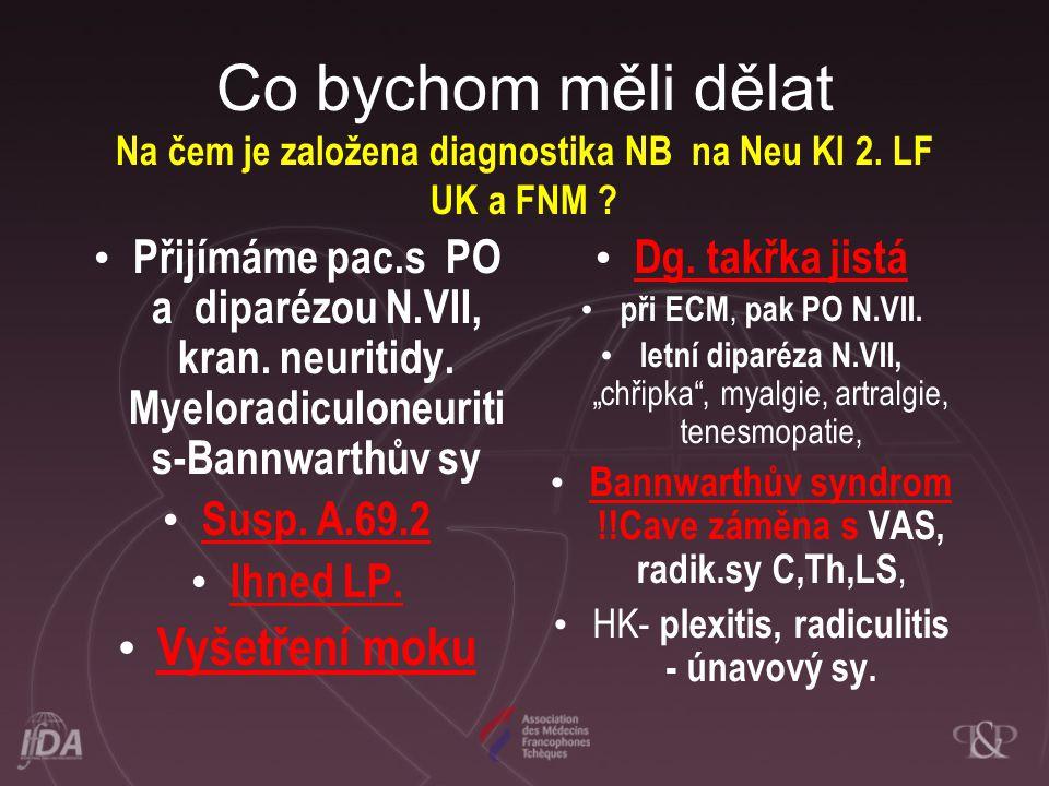 Co bychom měli dělat Na čem je založena diagnostika NB na Neu Kl 2