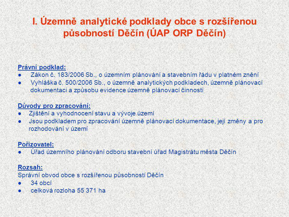 I. Územně analytické podklady obce s rozšířenou působností Děčín (ÚAP ORP Děčín)