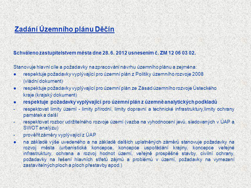 Zadání Územního plánu Děčín
