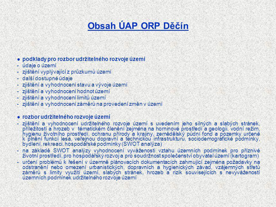Obsah ÚAP ORP Děčín ● podklady pro rozbor udržitelného rozvoje území
