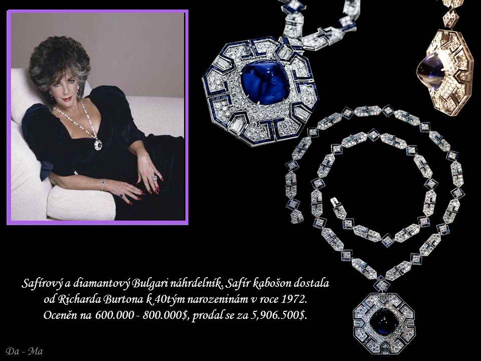 Safírový a diamantový Bulgari náhrdelník